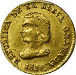 COLOMBIA. 1839-RS Peso. Bogotá mint. Restrepo 200.5. AU-58 (PCGS).