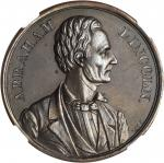 1860 Abraham Lincoln Medal. Copper. 38 mm. DeWitt-AL 1860-12, Cunningham 1-40C, King-12. MS-63 (NGC)