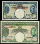 Board of Commissioners of Currency, Malaya, $1, $5, 1 July 1941, serial number G/3 029469, F/55 0284