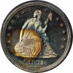 1871 Liberty Seated Quarter. Proof-65 (PCGS). CAC. OGH--First Generation.