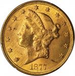 1877-S Liberty Head Double Eagle. MS-63 (PCGS).
