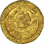 Henry VI (1422-61), annulet issue 1422-30, Noble, 6.95g, York, m.m. lis both sides, henric (lis) di.