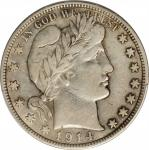 1914 Barber Half Dollar. VF Details--Environmental Damage (PCGS).
