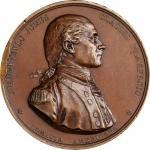 "1779 (ca. 1863-68) John Paul Jones medal. Betts-568, Julian NA-1. Copper. Bell metal (i.e. ""gunmetal"