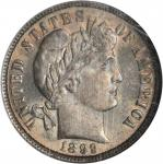 1899 Barber Dime. MS-65 (NGC). CAC.