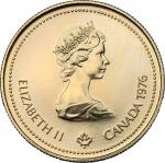 World Coins, Canada.  Elizabeth II (1952 -). 100 dollars 1976. Fr. 6 13.24 g.  27 mm.  优美