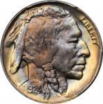 1924-D Buffalo Nickel. MS-65+ (PCGS).