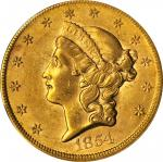 1854 Liberty Head Double Eagle. Small Date. AU-58 (PCGS).