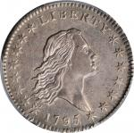 1795 Flowing Hair Half Dollar. O-125, T-13. Rarity-4. Two Leaves. AU-53 (PCGS).