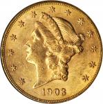 1903-S Liberty Head Double Eagle. MS-61 (NGC).