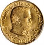 1922年格兰特像纪念金币 PCGS MS 65 1922 Grant Memorial Gold Dollar