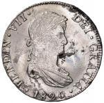 Foreign coins;MESSICO Ferdinando VII (1808-1821) 8 Reales 1820 JJ - KM 111.5 AG (g 26.99) Colpo al b