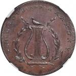 GREAT BRITAIN. Worcestershire County. Penny, ND (1790s). George III (1760-1820). NGC MS-64 BN.