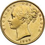 World Coins, Great Britain.  Victoria (1837-1901). Sovereign 1862. Fr. 387 极美