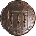 Great Britain--Middlesex. 1796 Noted Advocates for the Rights of Men Halfpenny Token. D&H-837, W-902