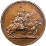 1781 (1845-1860) Lieutenant Colonel John E. Howard at Cowpens Medal. Paris Mint Restrike from Origin