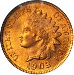 1902 Indian Cent. MS-65 RD (PCGS).