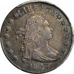 1803 Draped Bust Dime. JR-4. Rarity-5. AU-53 (PCGS).