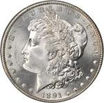 1891-S Morgan Silver Dollar. MS-66 (PCGS).