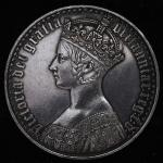 GREAT BRITAIN Victoria ヴィクトリア(1837~1901) Crown 1847 やや磨き EF+
