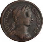 1785 Connecticut Copper. Miller 2-A.1, W-2305. Rarity-5+. Mailed Bust Right, Roman Head. VF-30 (PCGS
