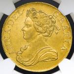 1711年英国安妮像金币5几尼 NGC MS 61