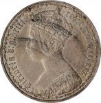 GREAT BRITAIN. Florin, 1880. London Mint. Victoria. PCGS AU-55 Gold Shield.