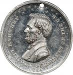 Circa 1864 Washington and Flags / Abraham Lincoln medal by William H. Key. Musante GW-722, Baker-236