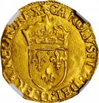 FRANCE. Ecu dOr au Soleil, 1567-I. Limoges Mint. Charles IX. NGC MS-63.