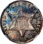 1869 Silver Three-Cent Piece. Proof-66 (NGC).