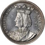 1893 Isabella Quarter. MS-65 PL (NGC).