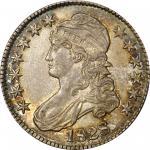 1828 Capped Bust Half Dollar. O-106. Rarity-4+. Curl Base Knob 2. AU-58 (PCGS).