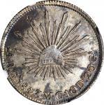 MEXICO. 4 Reales, 1843-Ga MC. Guadalajara Mint. NGC AU-58.