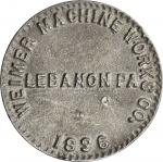 1896 Bryan Dollar. Lead Composition. 94 mm. 290.4 grams. Schornstein-905, Zerbe-130. About Uncircula