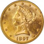 1897 Liberty Head Eagle. MS-62 (PCGS).