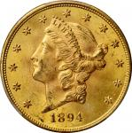 1894-S Liberty Head Double Eagle. MS-64+ (PCGS). CAC.