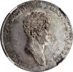 "GERMANY. Nassau-Weilburg. ""Convention"" Taler, 1809-L. Friedrich Wilhelm II. NGC MS-62."