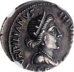 AUGUSTUS, 27 B.C.- A.D. 14. AR Denarius (3.96 gms), Rome Mint, 18 B.C. NGC Ch AU, Strike: 4/5 Surfac