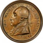 1790 Manly medal. Original dies. J. Manly & c. removed from the reverse. Musante GW-10, Baker-61B. B