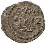 SPAIN: MALLORCA: Felipe V, 1700-1746, AE dobler, ND (1715-46), KM-35.2, AC-4, hints of red, crude, w