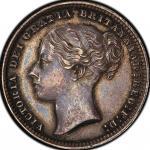 英国 (Great Britain) ヴィクトリア女王像 1シリング銀貨 両面陰打ちミントエラー 年号なし(1867~1878年) KM734.3 / Victoria 1 Shilling Silv