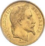 FRANCE Second Empire / Napoléon III (1852-1870). 20 francs tête laurée 1870, A, Paris.