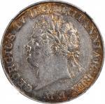 1821年锡兰Rixdollar。乔治四世。 CEYLON. Rixdollar, 1821. George IV. NGC AU Details--Cleaned.