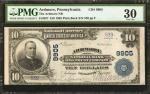 Ardmore, Pennsylvania. $10 1902 Plain Back. Fr. 627. The Ardmore NB. Charter #9905. PMG Very Fine 30