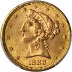 1883-S Liberty Head Half Eagle. MS-63 (PCGS). Gold Shield Holder.