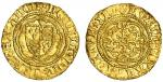 Henry V (1413-22), Quarter-Noble, type G, 1.72g, mm. pierced cross, henric?dei gra?rex angl, lis abo