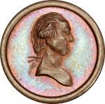 Circa 1849 Twelve Stars medalet. Musante GW-179, Baker-647A. Copper. MS-65 BN (PCGS).