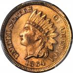1864 Indian Cent. Bronze. MS-65 RD (PCGS).