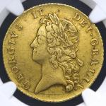 GREAT BRITAIN George II ジョージ2世(1727~60) 2Guineas 1738 NGC-XF45 VF~EF