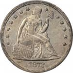 1872-CC Liberty Seated Silver Dollar. OC-1. Rarity-3+. MS-62 (PCGS).